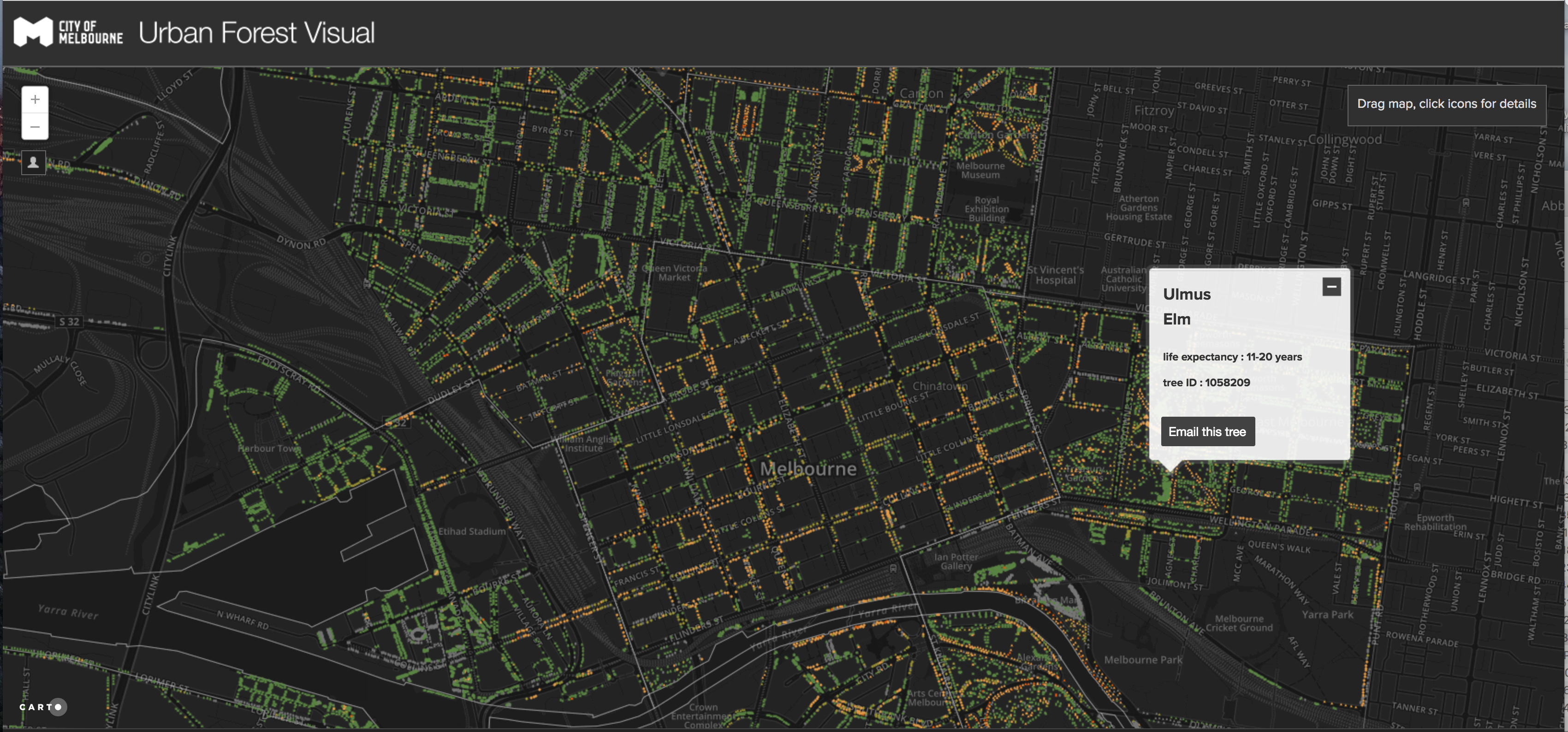 Melbourne's Urban Forest Map